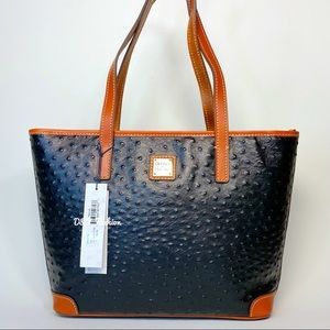 DOONEY AND BOURKE OSTRICH CHARLESTON TOTE